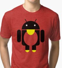 linux Tux penguin android  Tri-blend T-Shirt
