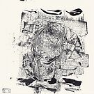 Monkey Dream #4 - Series of 5 Monotypes - by Pascale Baud