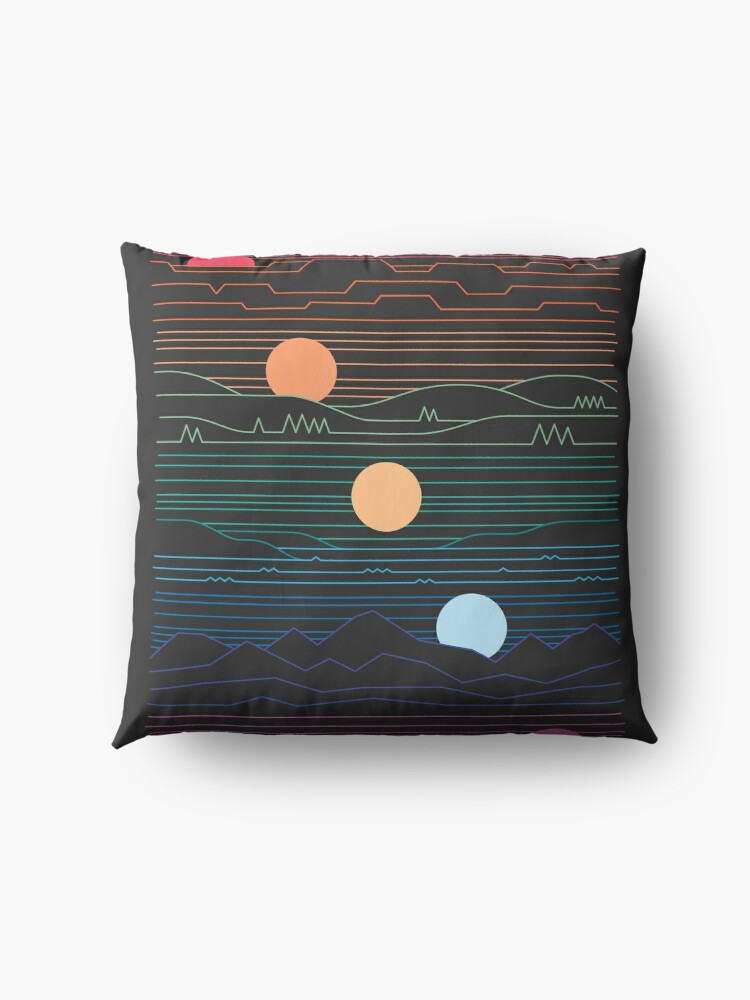 Alternate view of Many Lands Under One Sun Floor Pillow