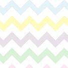 Barely There Pastel Chevron on White by TimorousEclectc