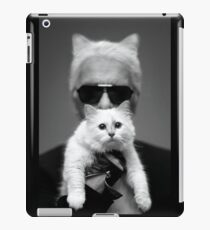 Karl mit Choupette iPad-Hülle & Klebefolie