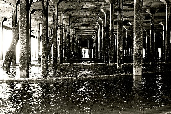 Under the Pier (Clacton) by Richard Pitman