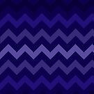 Deep Blue Gradient Chevron by TimorousEclectc