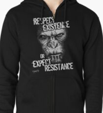 VeganChic ~ Respect Existence Zipped Hoodie