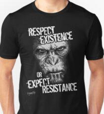 VeganChic ~ Respect Existence Slim Fit T-Shirt