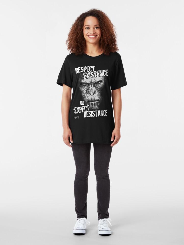 Alternate view of VeganChic ~ Respect Existence Slim Fit T-Shirt