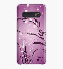 Purple Floral Design Case/Skin for Samsung Galaxy