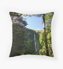 Humboldt Falls, Hollyford Valley, Milford Throw Pillow