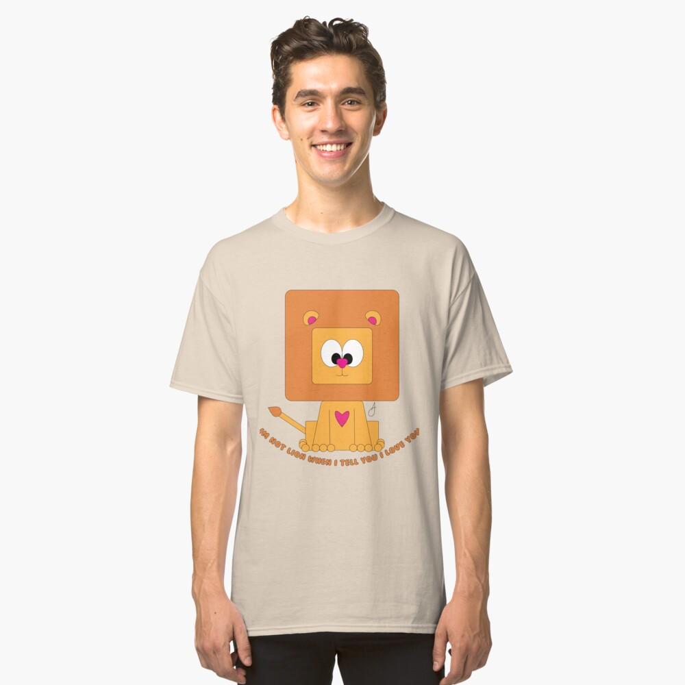 Cute Lion  Classic T-Shirt Front