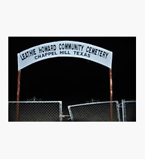 Lethie Howard Community Cemetary Photographic Print