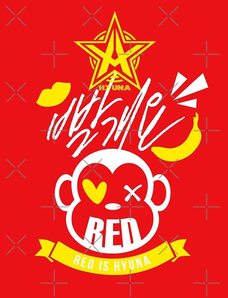 Hyuna RED by skeletonvenus