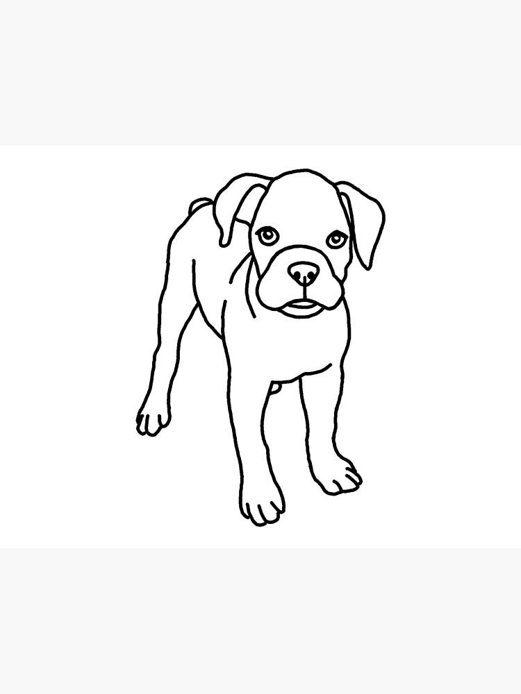 Boxer Perro Cachorro Dibujo Tarjetas De Felicitación