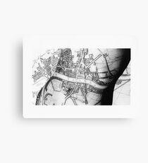 Body Maps - Ancient London - Torso Canvas Print