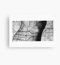 Body Maps - Tube Map - Torso Canvas Print