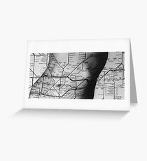 Body Maps - Tube Map - Torso Greeting Card