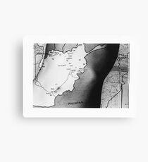 Body Maps - Afghanistan - Torso Canvas Print