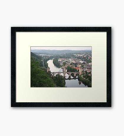 Valentre bridge (Cahors, France) Framed Print