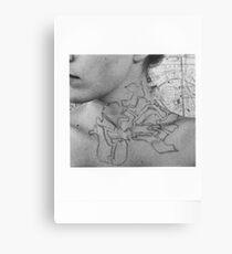 Body Maps - Tower Hamlets - Neck Canvas Print
