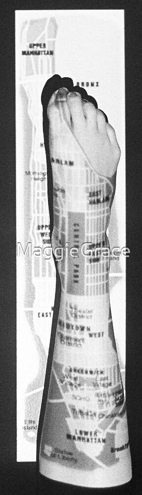 Body Maps - Manhattan - Leg by MaggieGrace