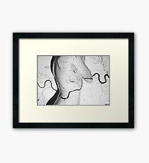 Body Maps - London Rivers - Back Framed Print