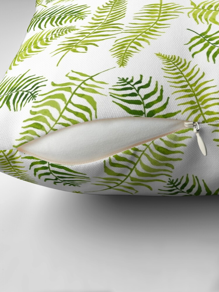 Alternate view of Fern Limelight Throw Pillow