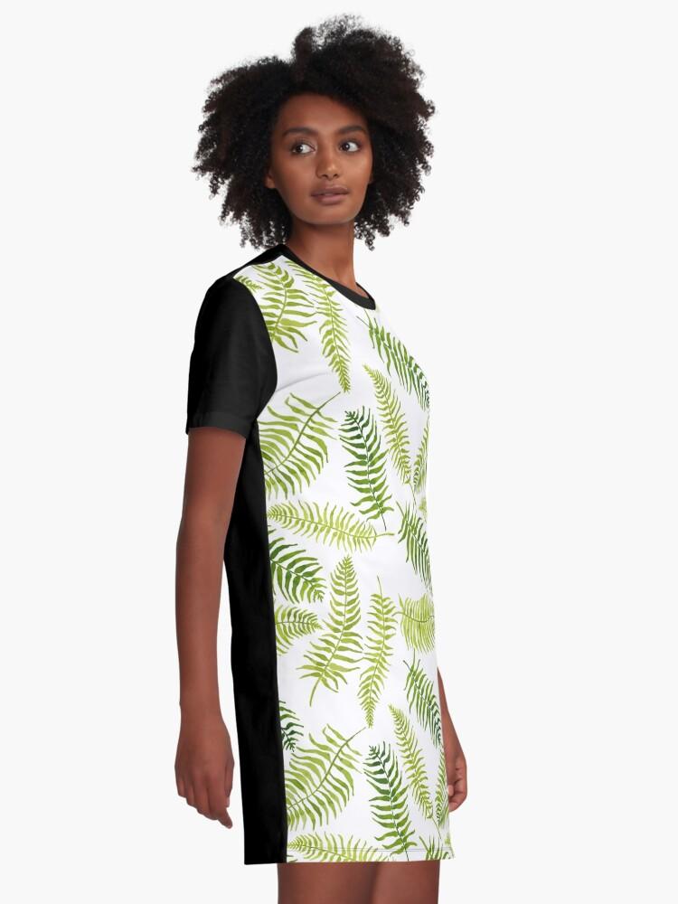 Alternate view of Fern Limelight Graphic T-Shirt Dress