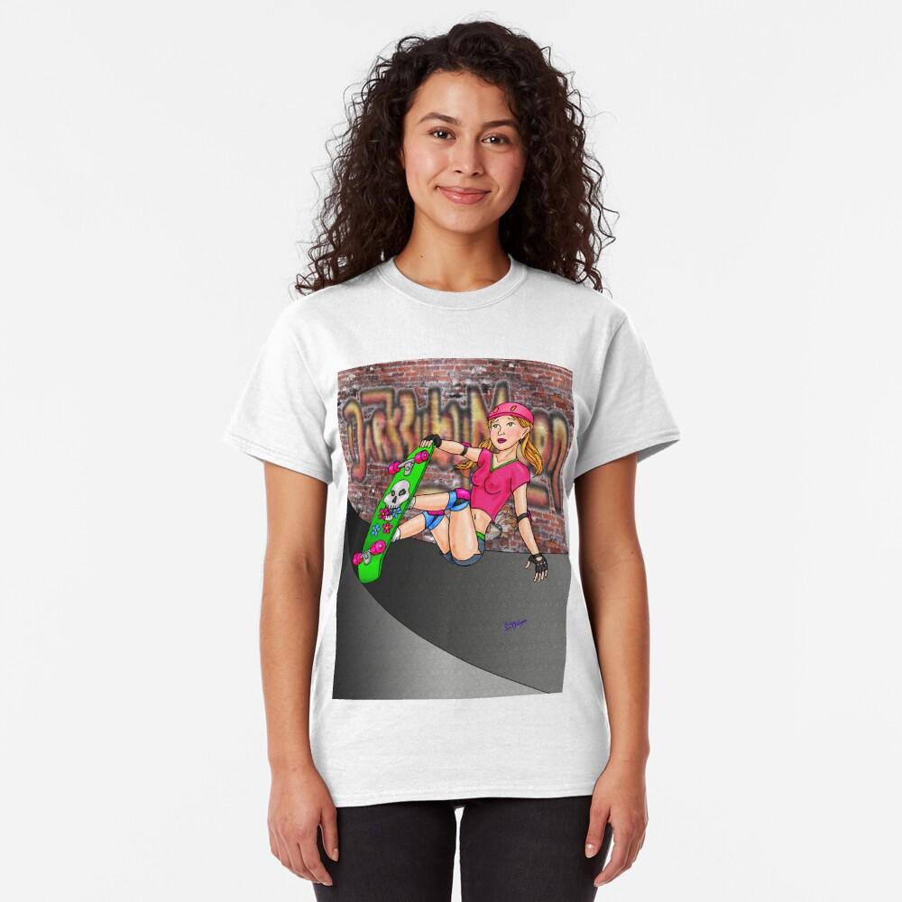 Skateboard girl Version2 Classic T-Shirt