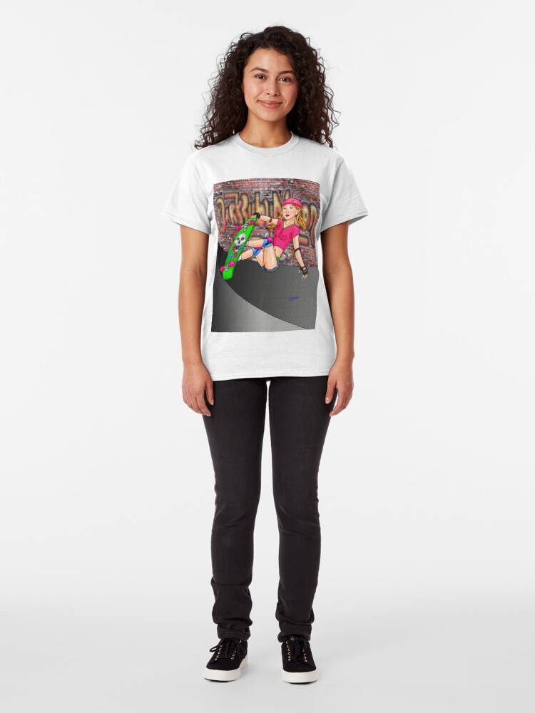 Alternate view of Skateboard girl Version2 Classic T-Shirt