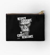 VeganChic ~ Respect Existence Zipper Pouch