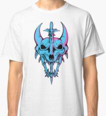 Neon Dragon Skull Classic T-Shirt