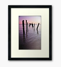 Sunset at Bridport Pier Framed Print
