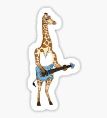 Bass Giraffe Sticker