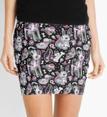 Kawaii Dead Cute Collection in Black Galaxy Mini Skirt