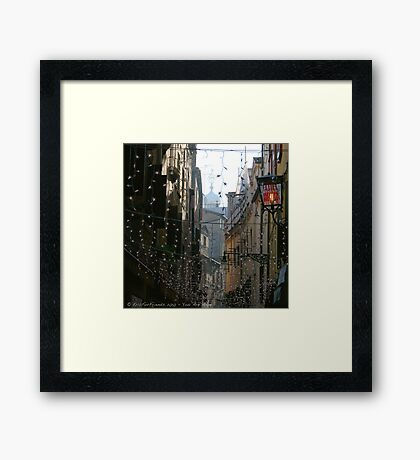 You Are Here - Venice in Christmas time Framed Print