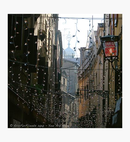 You Are Here - Venice in Christmas time Photographic Print