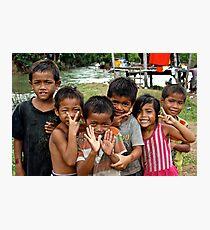 Adorables Kids - Thakhek, Laos. Photographic Print
