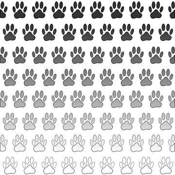 Gradient Dog Paw Prints by Almdrs