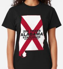 Alabama's 200th Birthday with State Flag Classic T-Shirt