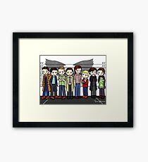 SuperWhoLock Lineup Framed Print