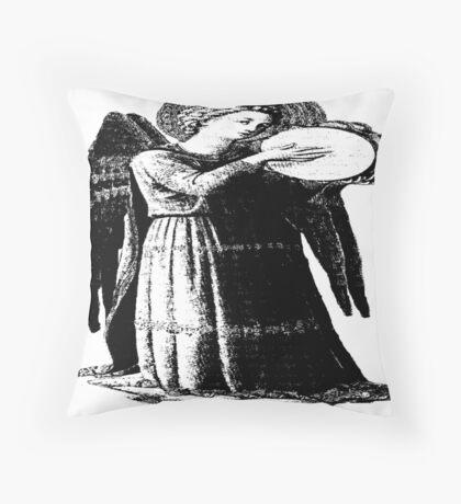 Angel with Tamborine  Throw Pillow