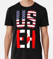 Camiseta premium Bandera de USEH America Canada Funny American Canadian