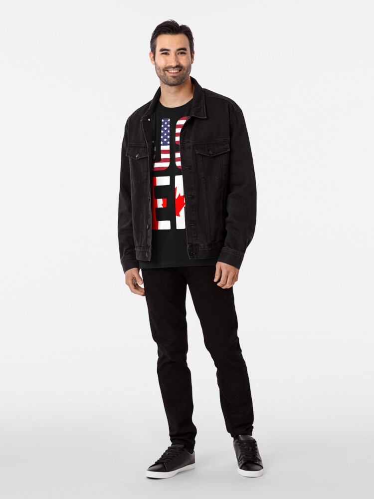 Alternative Ansicht von USEH Amerika Kanada Flagge lustige amerikanische Kanadier Premium T-Shirt