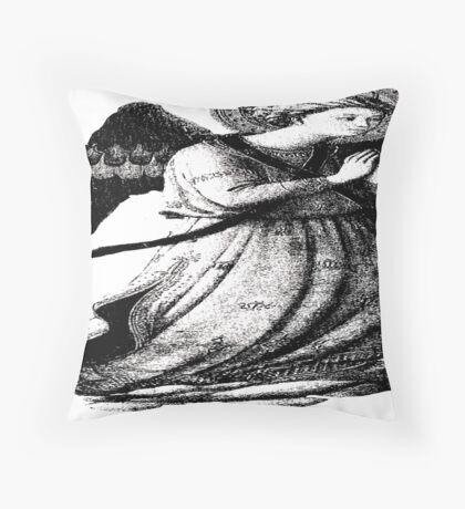 Angel Praying Throw Pillow