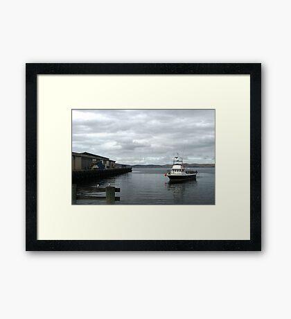 Hobart Wharf Framed Print