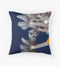 Soft Coral Polyp - Macro Throw Pillow