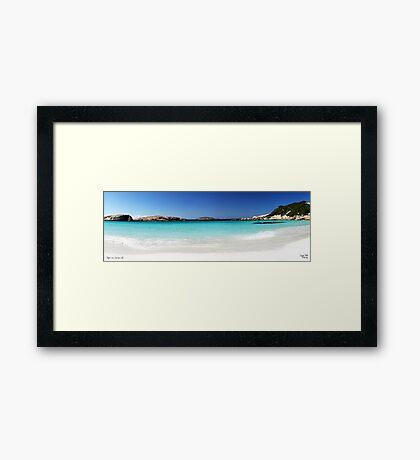 Twlight Cove Framed Print