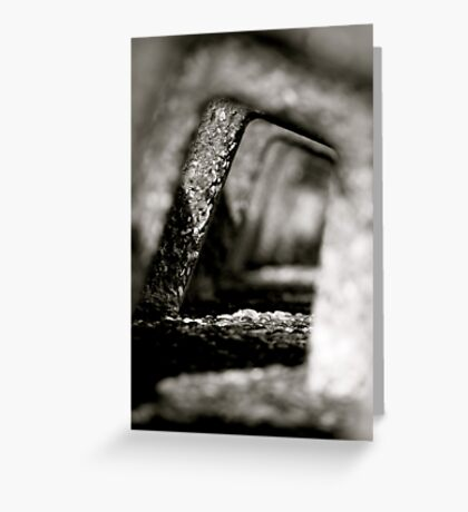 Receding Sea Wall Greeting Card
