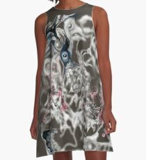 Brain on Surrealism - version for dark color fabrics A-Line Dress