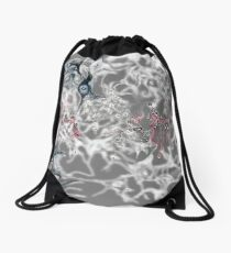 Brain on Surrealism - version for dark color fabrics Drawstring Bag