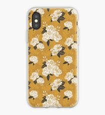 White + Gold Florals iPhone Case
